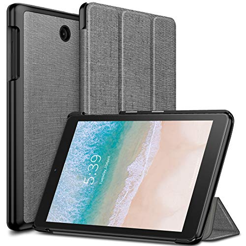 Infiland T-Mobile Alcatel 3T 8 Tablet Case, Ultra Slim Tri-Fold Shell Case Cover Compatible with T-Mobile Alcatel 3T 8-inch Tablet 2018 Release, Gray