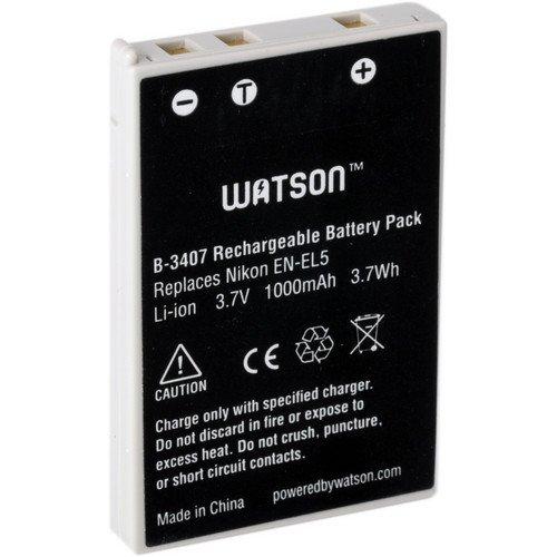 Watson EN-EL5 Lithium-Ion Battery Pack (3.7V, 1000mAh)
