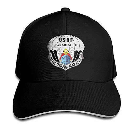 BOoottty United States Air Force Pararescue Emblem Flex Baseball Cap Black