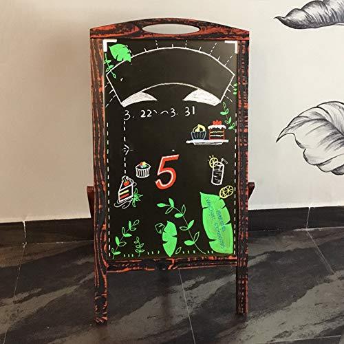 LIANGJUN Message Board Chalkboards Retro Type A Floor-Standing Bracket Type Sketchpad Advertising Board Publicity Board Cafe Flower Shop (Color : A, Size : 52X44X100CM) by LIANGJUN-lyj (Image #1)