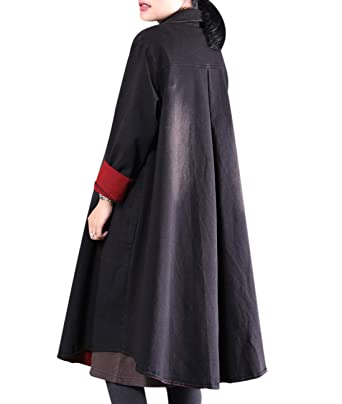 75720970eea62 YESNO WM8 Women Casual Oversized Strech Denim Jacket Boyfriend Jean Jackets  Button Down Lapel Pockets