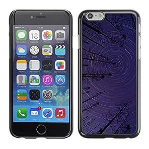 Congregación de Tall Trees - Metal de aluminio y de plástico duro Caja del teléfono - Negro - Apple (4.7 inches!!!) iPhone 6 / 6S