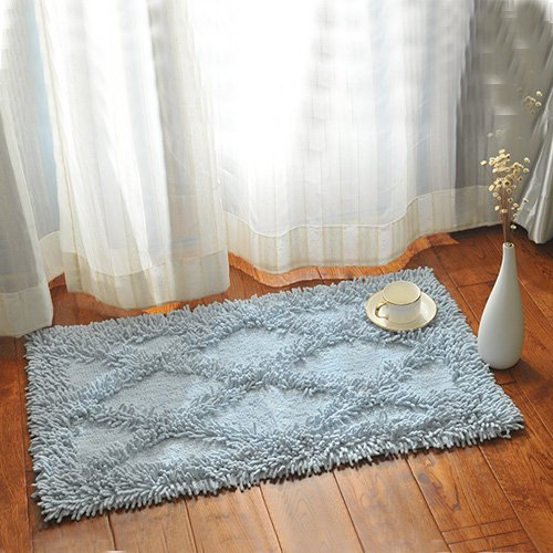 Water-absorbing non-slip bath mat toilet entrance mats door mats door mats -5080cm Sky blue by ZYZX