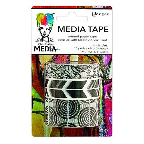 Price comparison product image Dina Wakley Media Tape 3 / Pkg-Printed