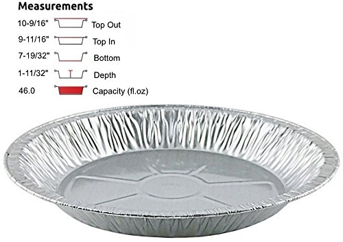 Handi-Foil 11 Disposable Aluminum Foil Pie Pans- Extra-Deep (pack of 25)