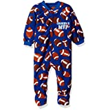 The Children's Place Little Boys and Toddler Blanket Sleeper Pjs, Football/Inked, 5T