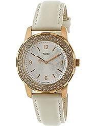 Timex Womens Style Premium T2P400 Rose-Gold Leather Japanese Quartz Fashion Watch