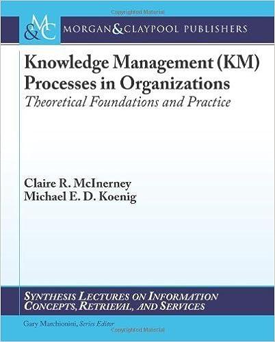 Book Knowledge Management by McInerney, Claire R., Koenig, Michael E.D.. (Morgan & Claypool Publishers,2011)