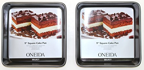 Oneida 9 inch Square Cake Pan, 2 - Pack
