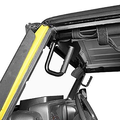 Hooke Road Black Steel Front Grab Handles for 1997-2006 Jeep Wrangler TJ & Unlimited: Automotive