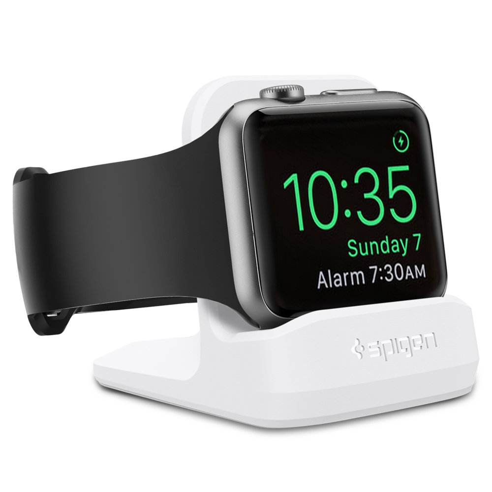 Spigen S350 Designed for Apple Watch Stand with Night Stand Mode for Series 4 / Series 3 / Series 2 / Series 1 / 44mm / 42mm / 40mm / 38mm, Patent Pending - White