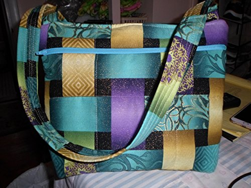 ((lg-weave) original design handmade purse created from a gorgeous gold flecked fabric)