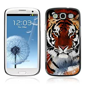 Designer Depo Hard Protection Case for Samsung Galaxy S3 / Cool Snow Tiger