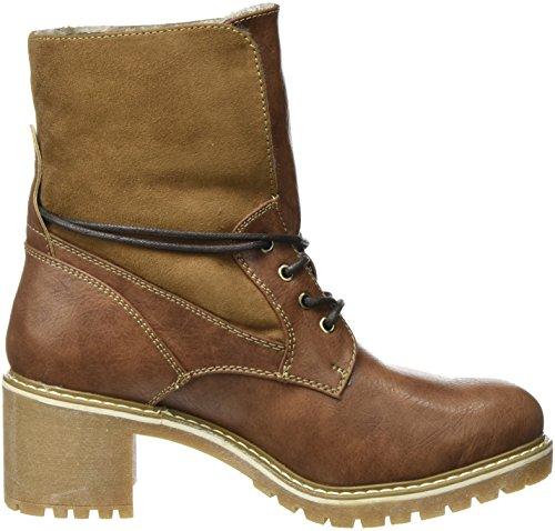 TOM TAILOR Damen 3790901 Desert Boots Braun (Cognac)
