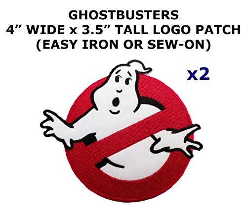 2 PCS Ghostbusters Theme DIY Iron / Sew-on Decorative Applique (Ghostbusters Costume Diy)
