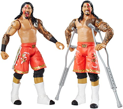 WWE Battle Pack Series #32 - Jimmy USO vs. Jey USO Action Figure (2-Pack) (Wwe The Usos Action Figures)