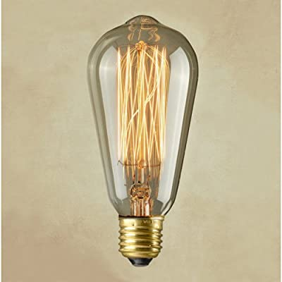 LightInTheBox Vintage E27 Artistic Filament Bulb Industrial Incandescent 40W Edison Light Bulb Replica with Squirrel Cage Tungsten Antique Filament For Retro Style Lighting, String Lights Pendants