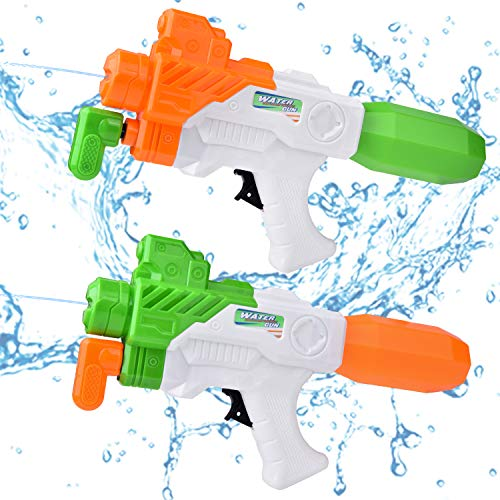 Pool Toys, Water Squirters for Kids, Water Soaker Blaster Toys with Waistband, Summer Watergun Games, Fight Toys, Pool Party Favors 4PCs