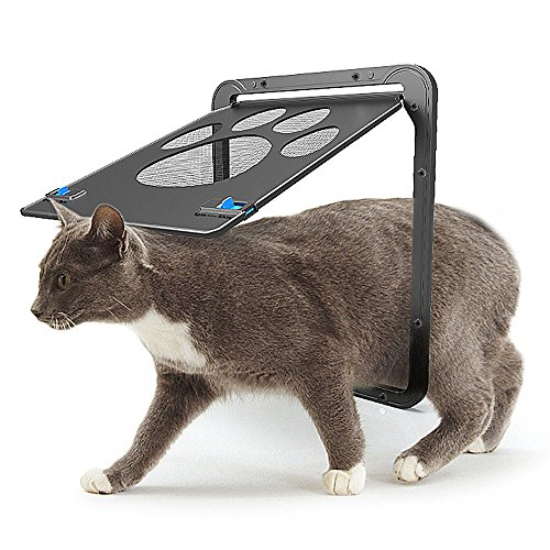 MyfatBOSS Pet Screen Door, Pet Window Screen Cat Door, Dog Door for Sliding Door Automatic Lock/Lockable