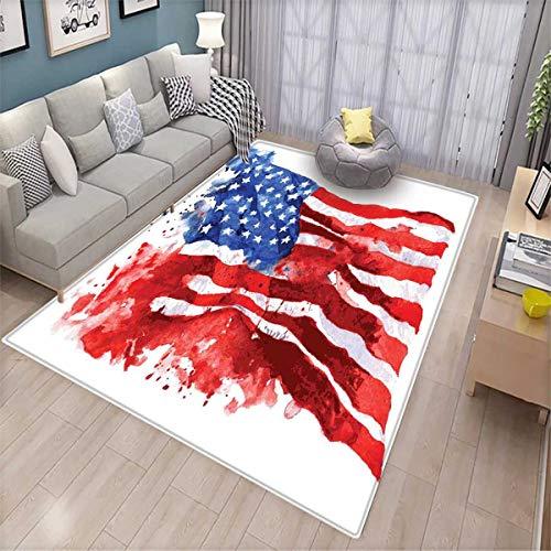 American Room Home Bedroom Carpet Floor Mat Flag of America