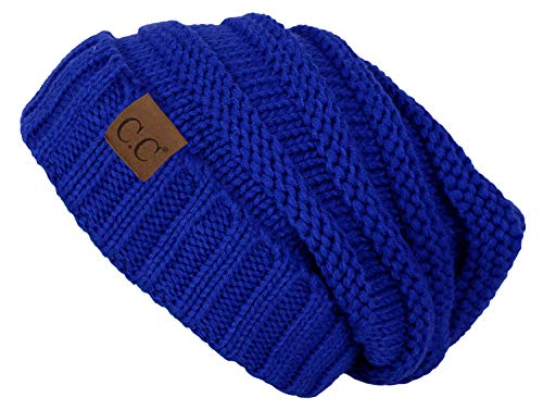 H-6100-57 Oversized Slouchy Beanie - Royal Blue -