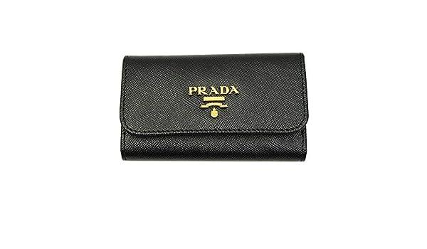 b185631a Prada Black Saffiano Leather Key Case 1PG222 Nero at Amazon Women's ...