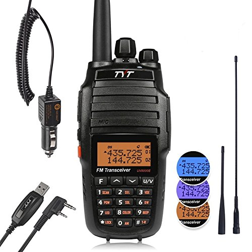 TYT UV8000E 10W High Power Dual Band Two-Way Radio, Walkie Talkie with Cross-band Repeater Function & 3600mAh Battery, VHF 136-174/ UHF 400-520MHz Transceiver, with Car Charger, 2 Antennas, Cable (Dual Repeater Radio)