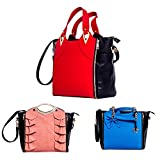 Tifi Zouk Interchangeable 3 in 1 handbag set PU Leather Top Handle Cross body shoulder bag Great Gift for Women