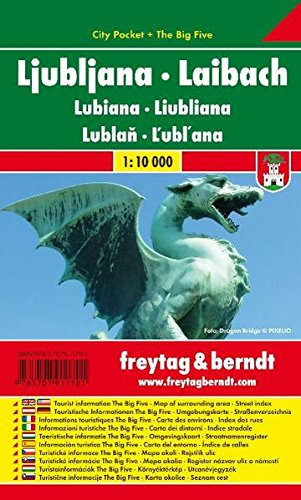 Ljubljana City Pocket Map 1:10K (Slovenia) (English and German Edition)...