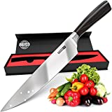 Chef Knife Professional Ultra Sharp Knife 8 Inch - Japanese Knife Cooking with German Stainless Steel - Ideal as Kitchen Knives Chopping Sous Slicing Sushi Fruit Vegetables Meat Best Chef Cutting