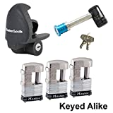 Master Lock - 5 Trailer Locks Keyed Alike #5KA-37937