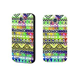 Hipster Bright Colors Print Chevron Phone Case Geometric Triangle Case Cover for Samsung Galaxy S4 9500 Durable Hard Plastic Skin for Girls
