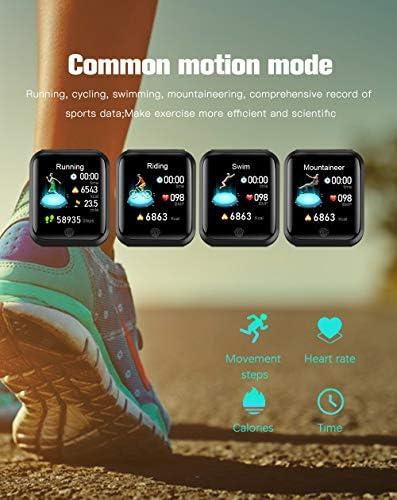 RRLOM Smart Watch Blood Pressure Monitor, Heart Monitor Smart Watch, Temperature Scanner, IP67 Waterproof, SpO2+ HR+ BP Monitor, Sports Fitness Tracker 51fY EfbrML