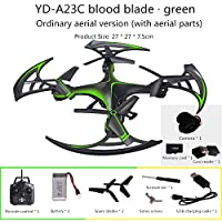 Fytoo YD-A23C Toys aircraft HD aerial Four-axis quadcopter Rc drone 2.4GHz, 360 degree roll remote control aircraft toys (Green)