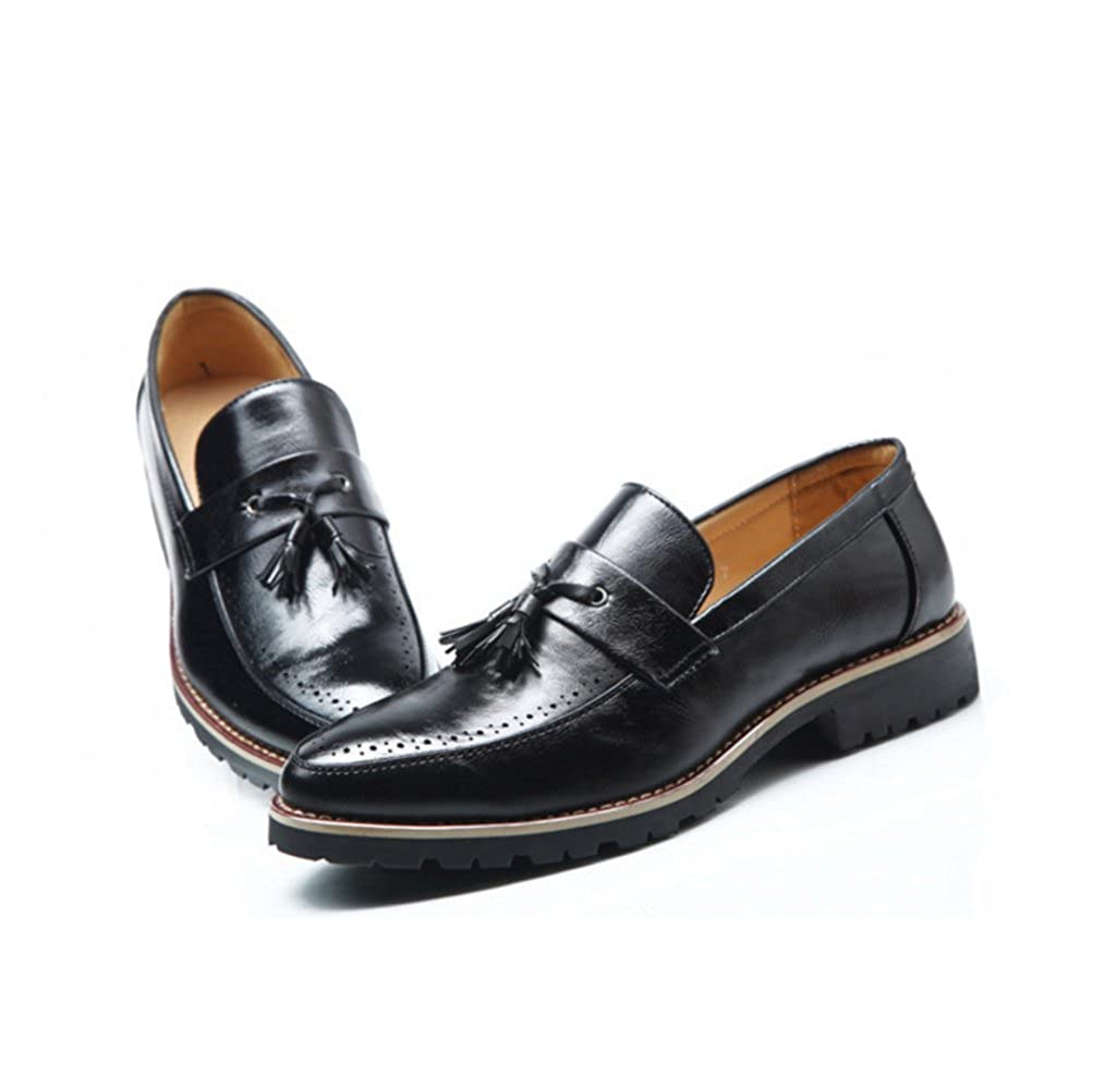 7f817b168eee Amazon.com  DFUCF Men s Leather Shoes Bullock Vintage Pointed Toe Business  Casual Shoes  Shoes