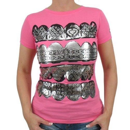 Env.–Fangs Girlie T-shirt, Fluorescent Magenta
