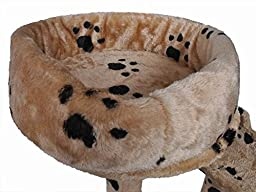 Safstar Cat Tree Tower Condo Furniture Scratching Post Pet Kitty Play House Beige Paws (52 inch)