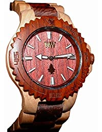 Wewood Men's Date Beige/Brown Wooden Watch by WeWood
