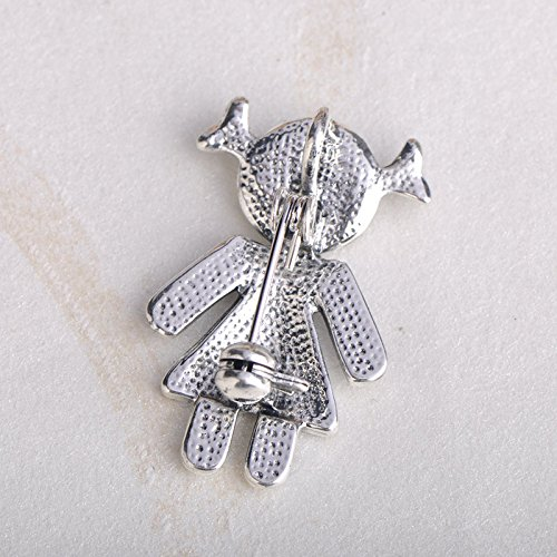 MECHOSEN New Little Girl Shape Brooches Sky Blue Enamel Brooch Pins For Women Girl Party Accessories by MECHOSEN (Image #6)