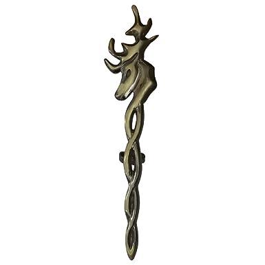 Men's Scottish Kilt Pin Celtic Sword Designs Chrome Finish Highland Pins Brooch