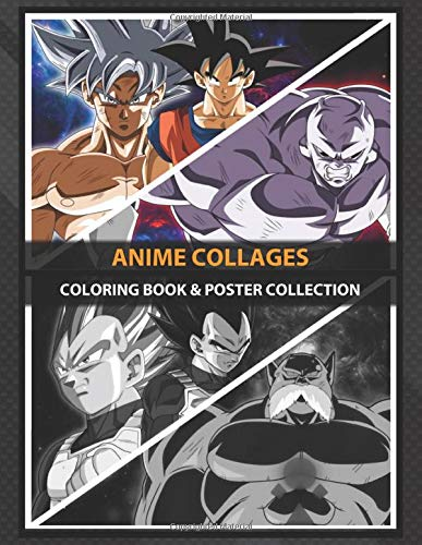 Coloring Book & Poster Collection: Anime Collages Super ...
