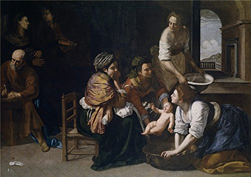 Oil Painting 'Gentileschi Artemisa Nacimiento De San Juan Bautista Ca. 1634' 20 x 28 inch / 51 x 72 cm , on High Definition HD canvas prints is for Gifts - Outlets Ca Napa