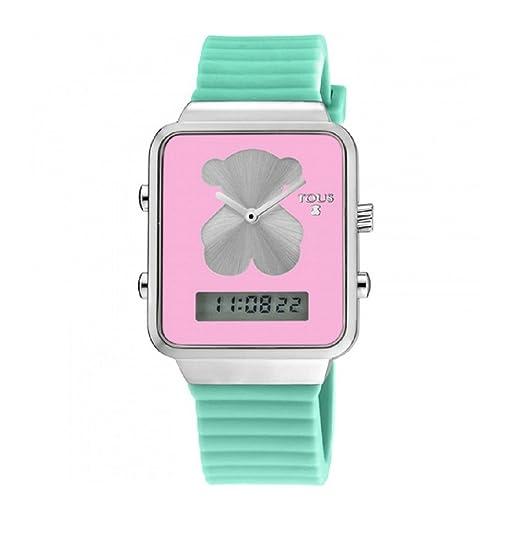 Reloj Tous digital I-Bear de acero con correa de silicona verde: Amazon.es: Relojes