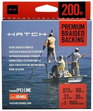 Hatch Outdoors Premium Braided Fly Line Backing - 1200 Meters 51fY2ROBKwL