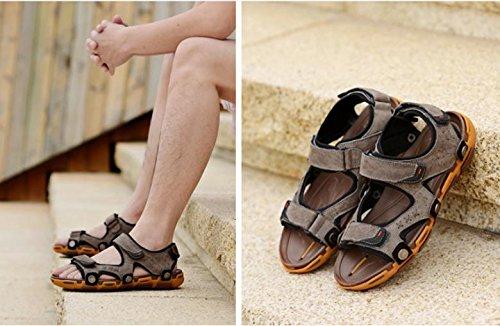 2017 sandalias de las nuevas sandalias de cuero masculina verano Baotou hombres casuales sandalias al aire libre 3