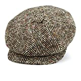 Lock & Co Hatters London Style Muirfield Tweed Mens Cap-Small Size