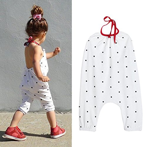 Franterd Baby Girls Straps Rompers, Kid Jumpsuits Piece Pants - Gingham Dress Red White