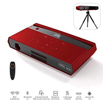 Cine en casa Proyector Android 6.0 2GB / 16GB Am-Logic HD 4K 2.4 ...