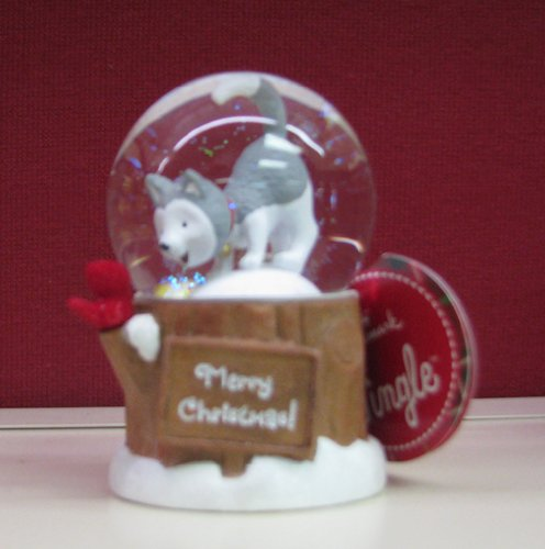 Hallmark 2012 Christmas XKT1096 Jingle The Husky Pup Mini Snow Globe by Hallmark