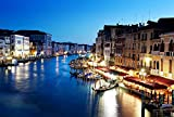 Grand Canal In Venice Italy At Sunset Art Print Canvas Poster,Home Wall Decor(20x30 inch)